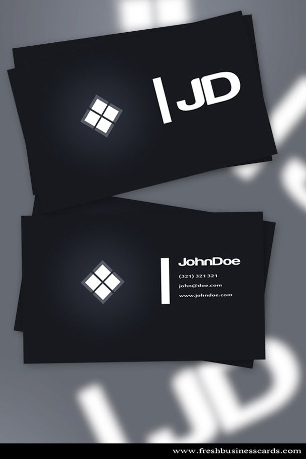 Simple And Clean Dark Business Card Template Available For Free - Business card design templates free download
