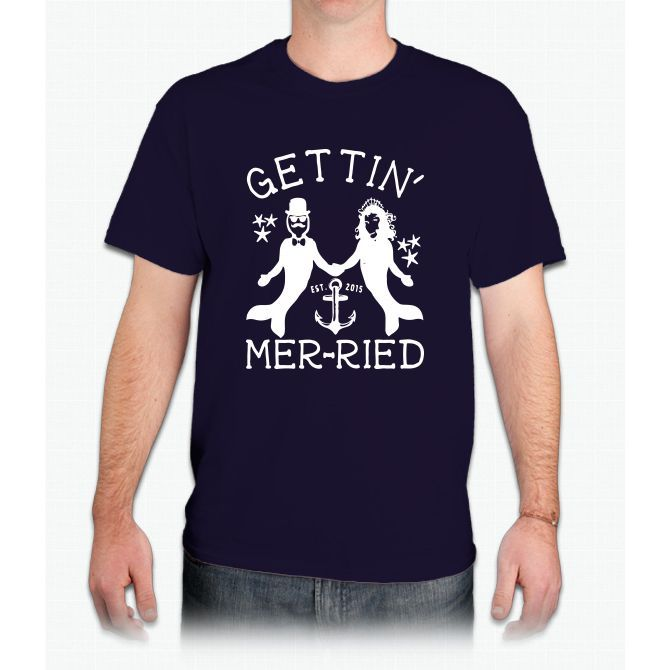 Getting Married Mermaid - Mens T-Shirt