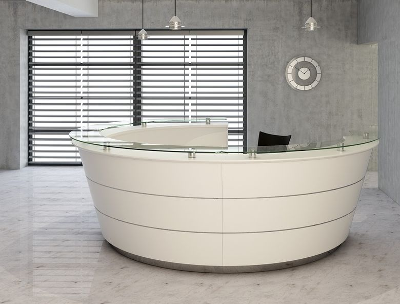 reception desk curved with decoration and curved reception desk - Reception Desks