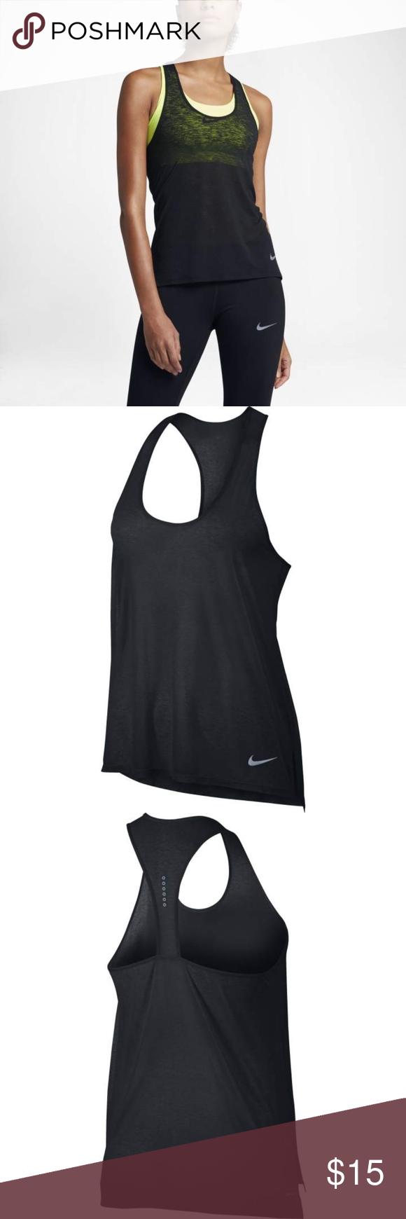 7338adbcab72c Nike Women s Breathe Cool Running Tank in Black ULTIMATE LIGHTWEIGHT  FREEDOM. The Women s Nike Breathe