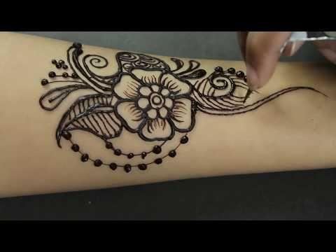 Mehndi Tattoos For Arms : Easy stylish floral mehndi design beautiful arm henna