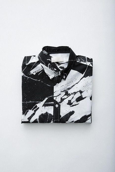Soulland Faux Playtype — Black Marble Shirt