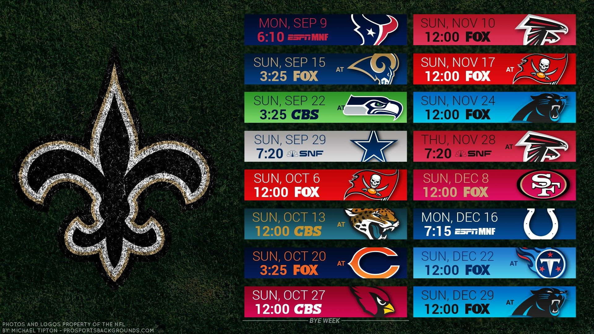 2019 New Orleans Saints Desktop Wallpaper Schedule New Orleans Saints New Orleans Saints