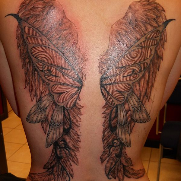 3d wing tattoo body marks tattoos skin art wicked - Wicked 3d tattoos ...