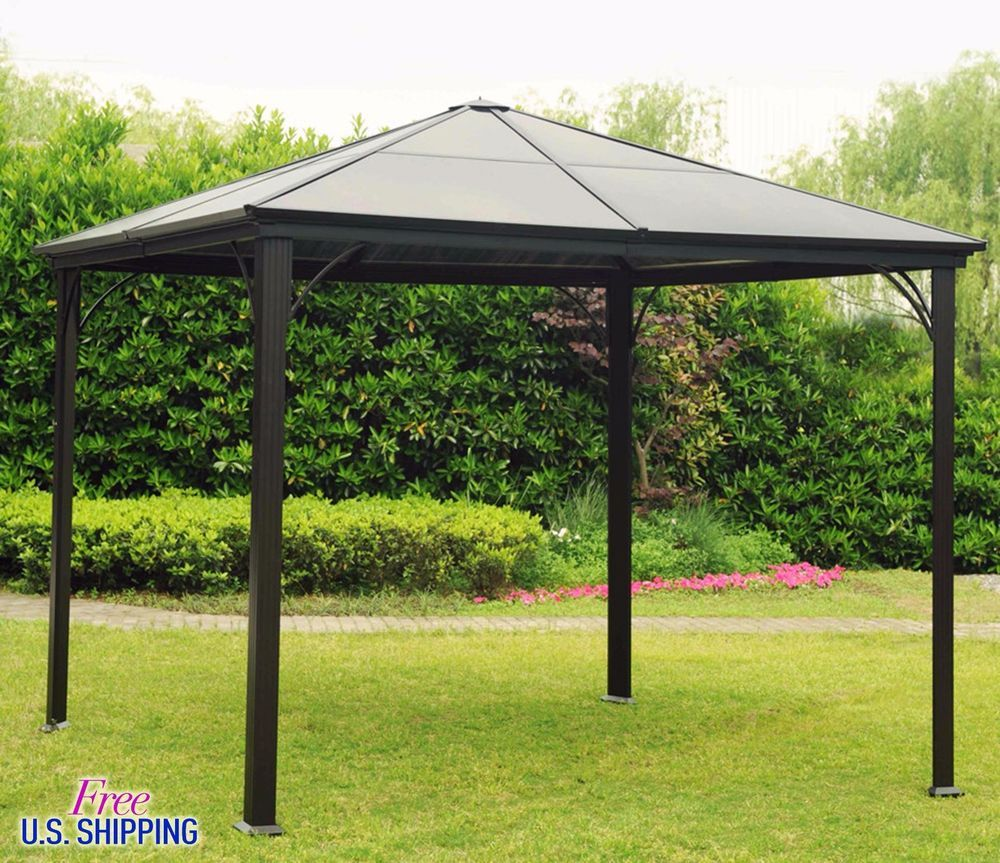 metal hardtop gazebo aluminium pergola cover steel square shed kiosk paviliion. Black Bedroom Furniture Sets. Home Design Ideas