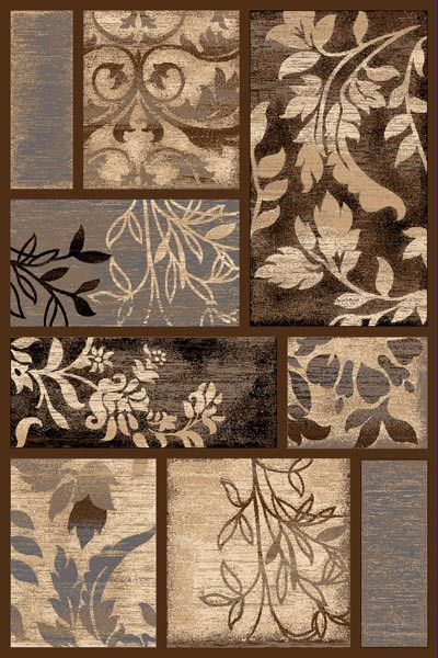Persian Weavers Reflections rug 5×7 chocolate brown PW-R-5872133