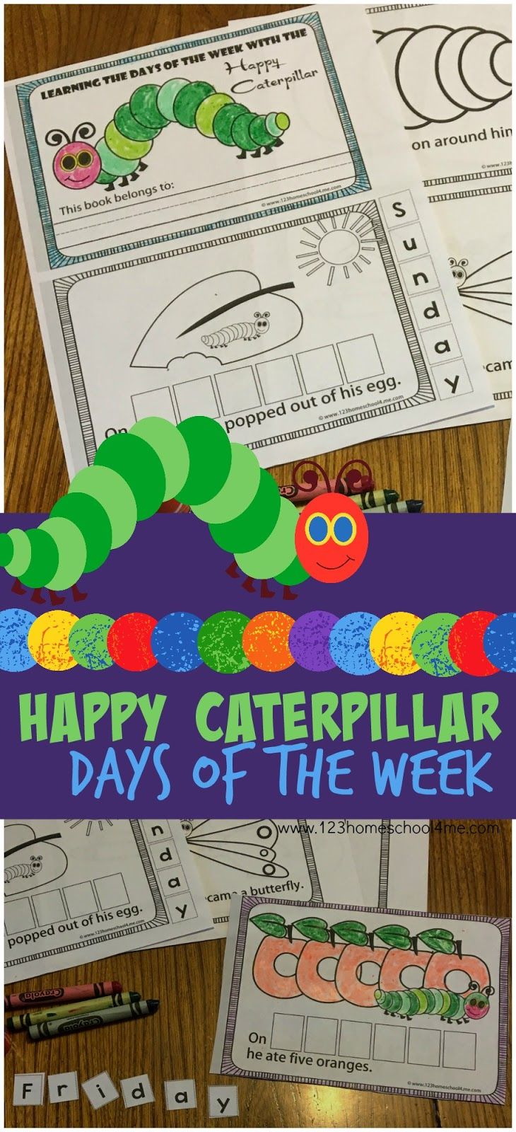 free hungry caterpillar days of the week this free printable book is lots of