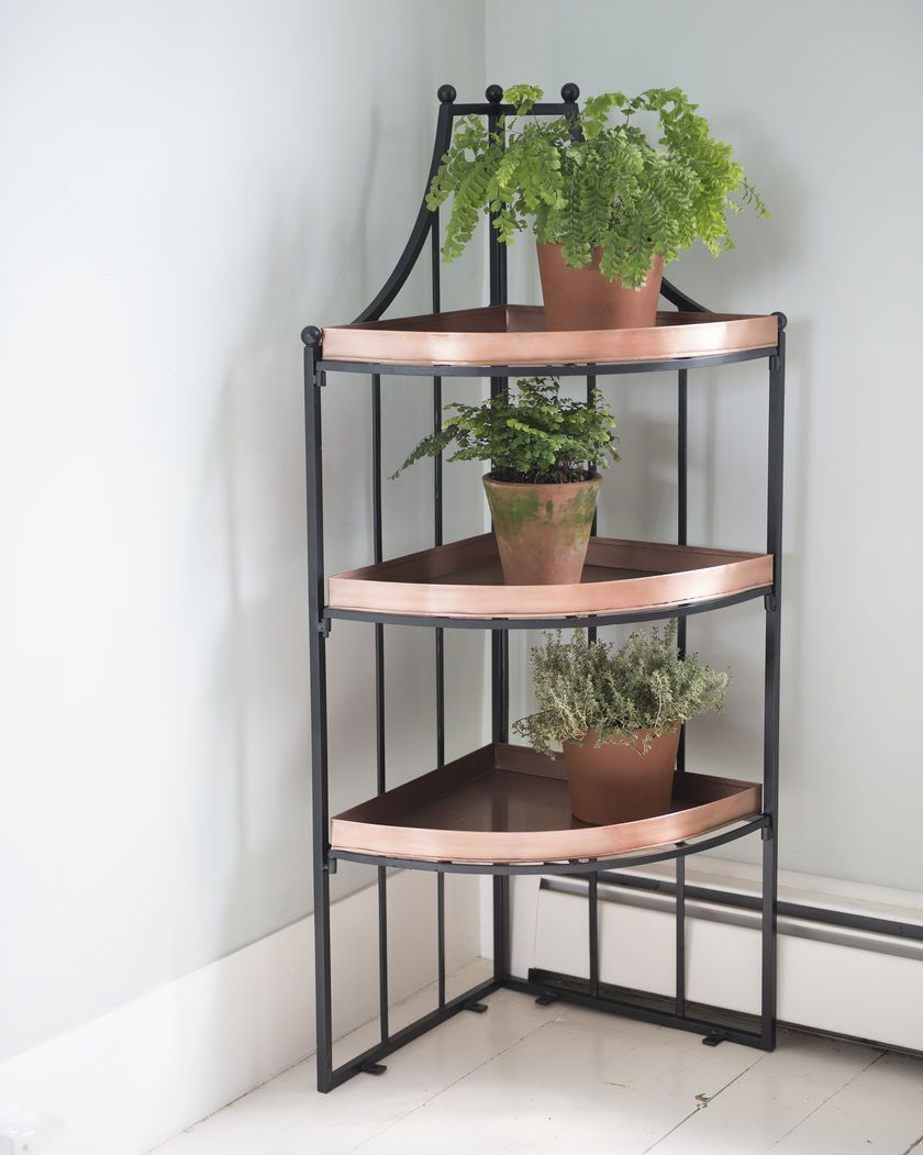 3 Tier Corner Plant Stand Elevates Plants To New Heights