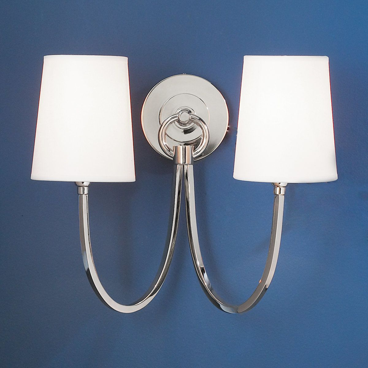 Double Swag Sconce   2 Light Polished_nickel