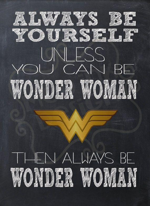 Always Be Wonder Woman Instant Download Art print