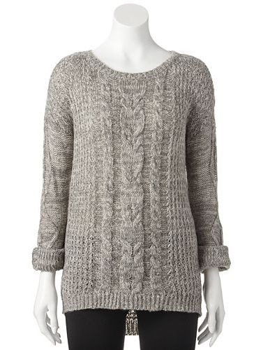 Jj Always Cable Knit Sweater Juniors Kohls I Love Kohls So