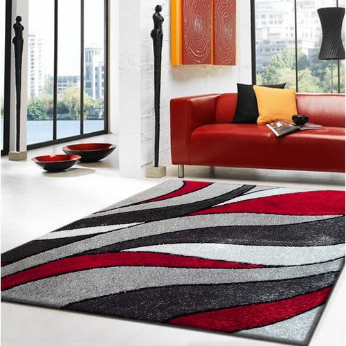 Found It At Wayfair Lola Hand Tufted Gray Red Area Rug Area
