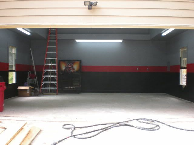 how to set up garage for painting