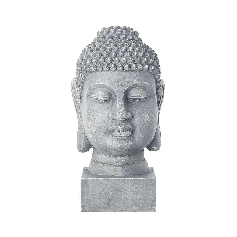 Buddha Head Garden Ornament | Dunelm