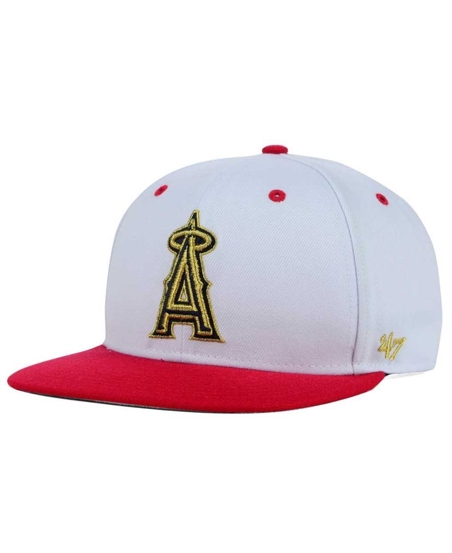 classic shoes size 7 new high 47 Brand Los Angeles Angels of Anaheim Gold Rush Snapback Cap ...