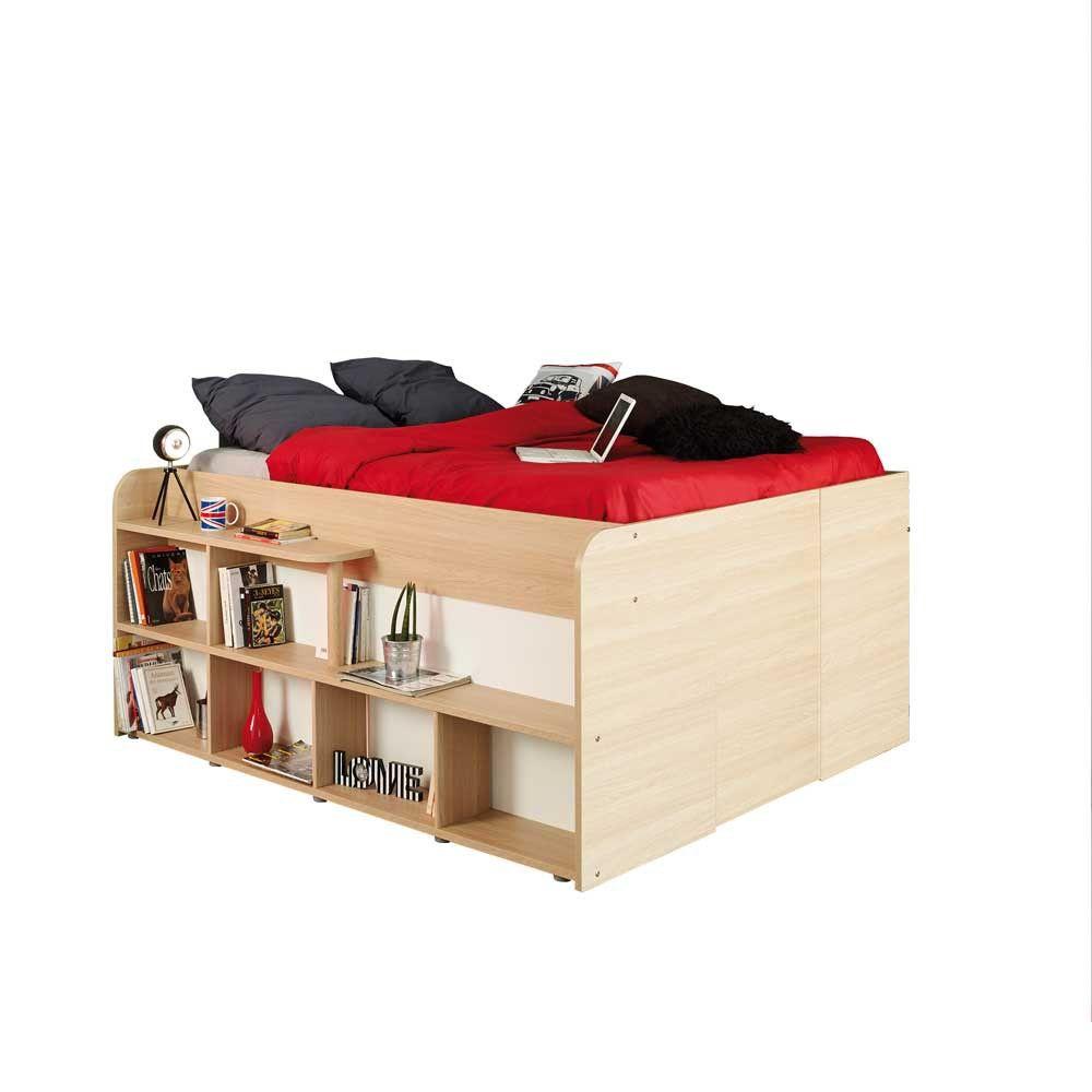 Bett Perrina Mit Integriertem Schrank 140x200 Bett Funktionsbett Bett 140x200