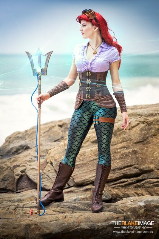 Steampunk little mermaid ... cept ... without a tail ...