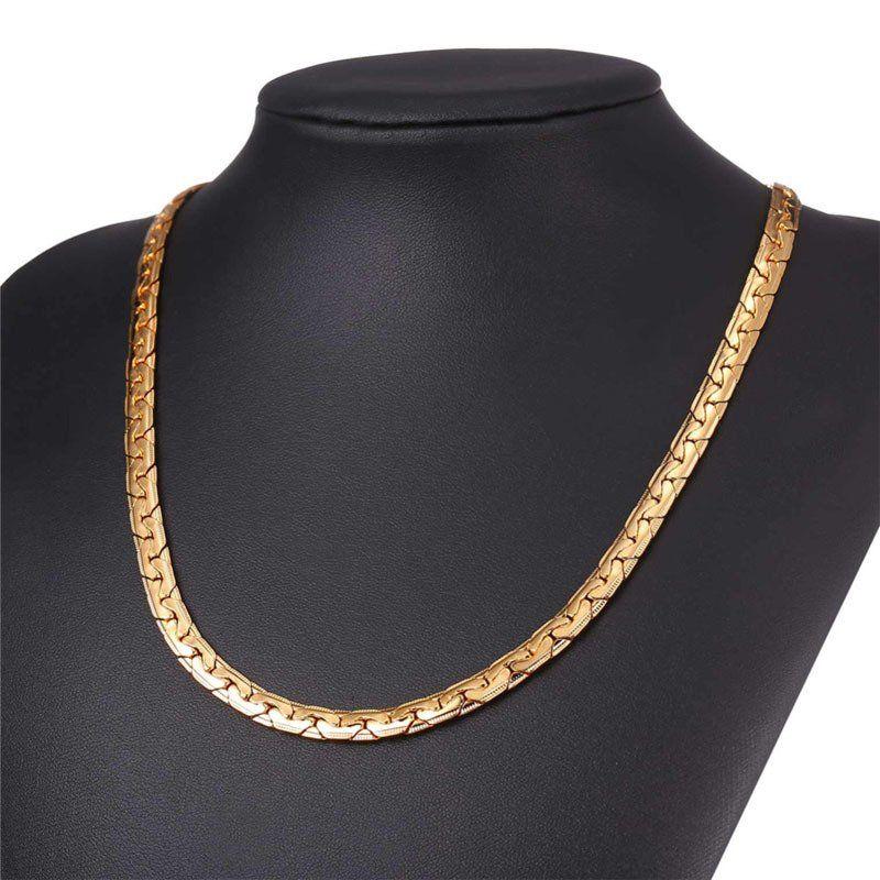 Veja nosso novo produto Corrente masculina Ouro Prata Cor Preta Frete  Gratis! Se gostar, pode nos ajudar pinando-o em algum de seus painéis  ) 2ed9e09f3c