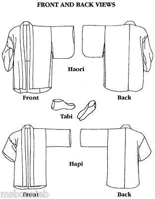 Folkwear Japanese Hapi Shopcoat, Haori Jacket & Tabi Sox Sewing ...