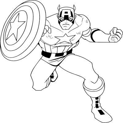 Captain America Coloring Pages For Kids Boyama Sayfalari
