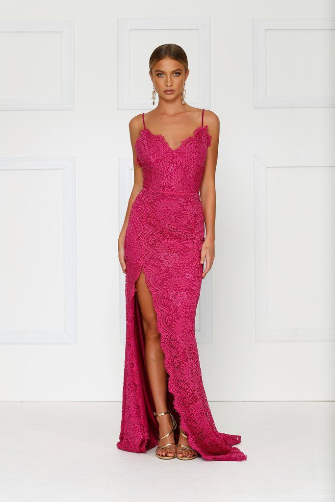 Layali Lace Gown - Hot Pink Preorder | F A S H I O N | Pinterest ...