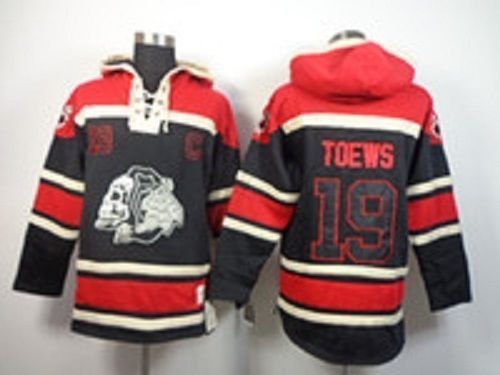 NHL Hockey playoffs Jonathan Toews Chicago Skull Blackhawks Hoodie Jersey  in Clothing c77752a6a