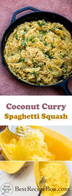 Curry Spaghetti Squash with Thai Coconut Curry Recipe
