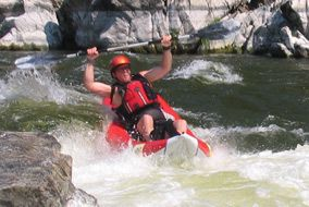 Whitewater rafting with Kokopelli River Guides.  Half day trip $89.  Based out of Ashland. Class 1-4