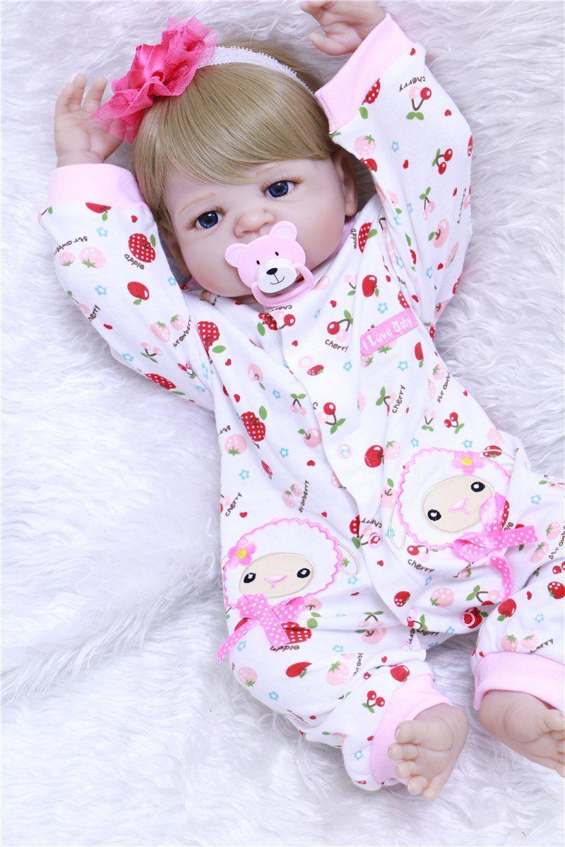bb8186dbb ... Bonecas Reborn de Bebê Brincalhão. Sexo  Menina Idade  acima de 3 anos  Material  Silicone vinil macio