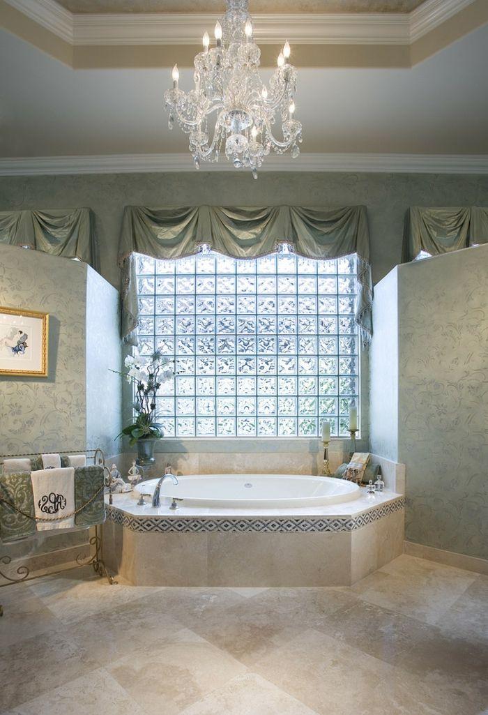 Mettons Des Briques De Verre Dans La Salle De Bains Décoration - Verre fenetre salle de bain