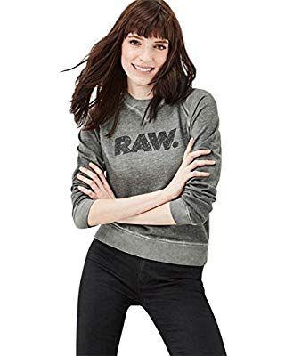 G Sw Damen WmnGrün Sweatshirt Star Cropped R Raw Daefera e9IHYW2bED
