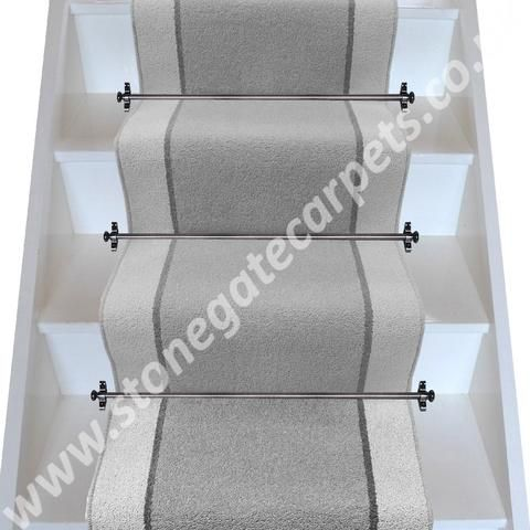 Best Brintons Carpets Bell Twist Pewter Smoke Pumice Stair 400 x 300