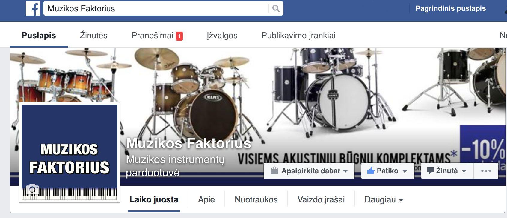 Muzikos Faktorius in Facebook