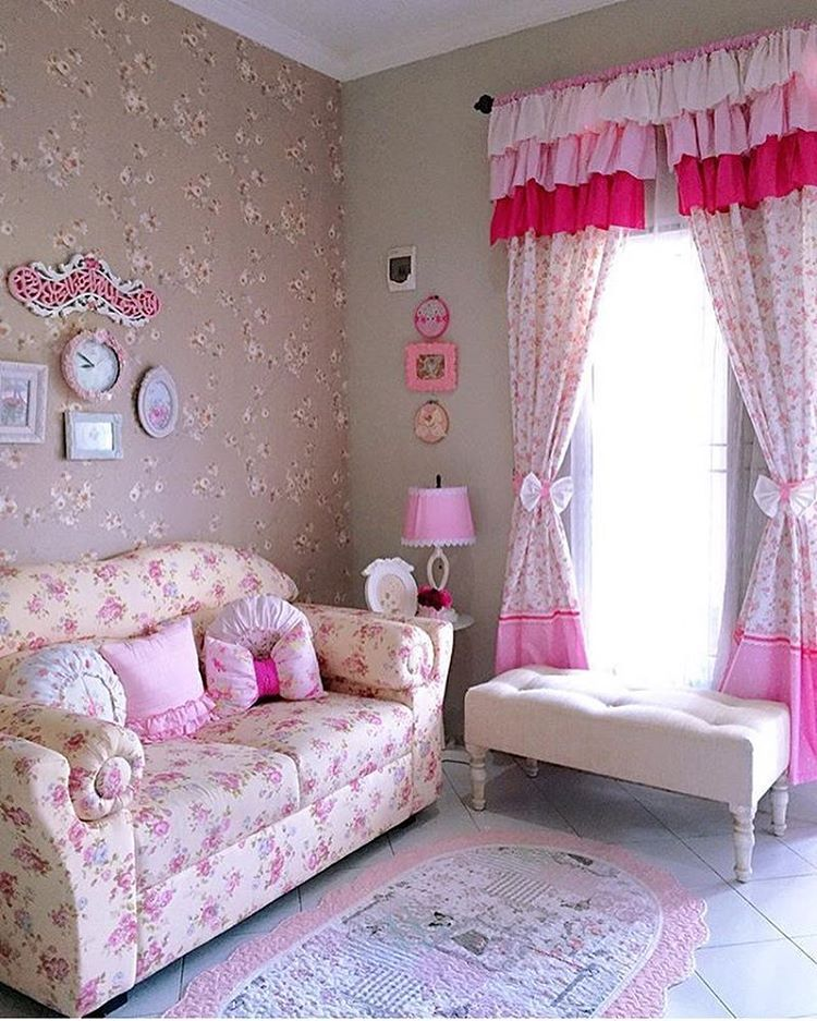 Desain Interior Ruang Tamu Shabby Chic