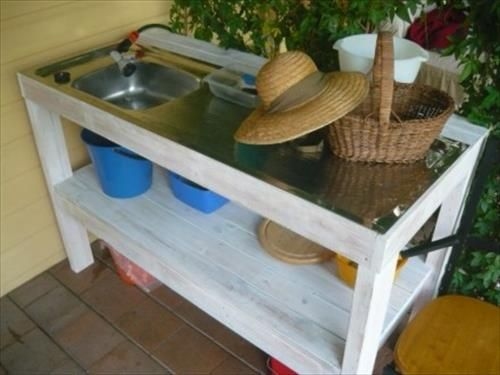 Charmant Pallet Kitchen For Outdoor Cooking