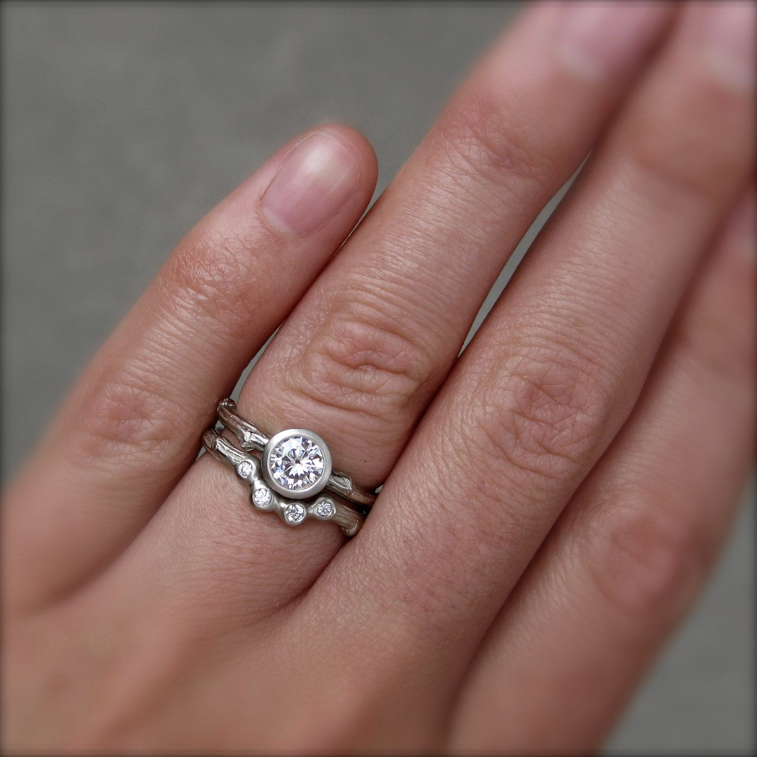 diamond twig engagement ring in recycled white gold i like the