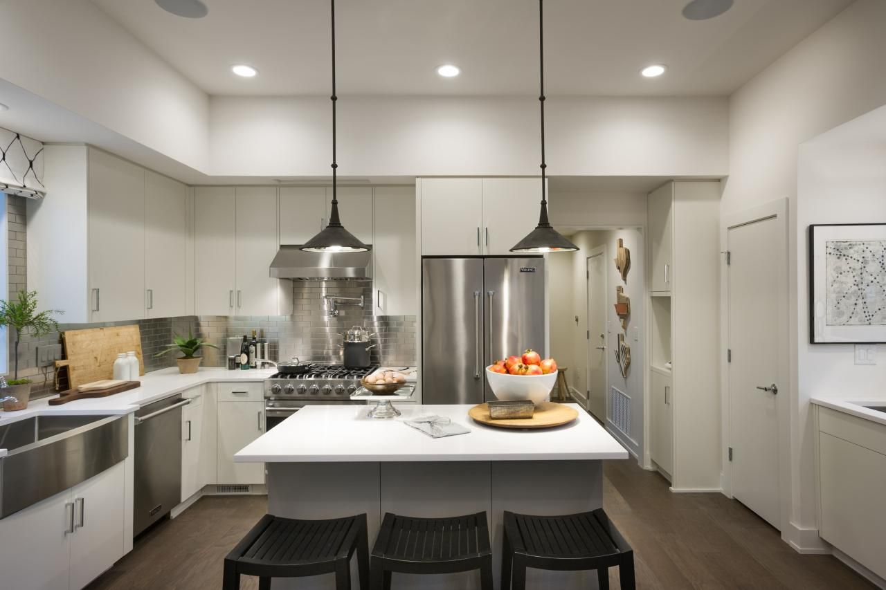 Pictures Of The Hgtv Smart Home 2015 Kitchen  Modern Recessed Custom Kitchen Designs With High Ceilings Decorating Design