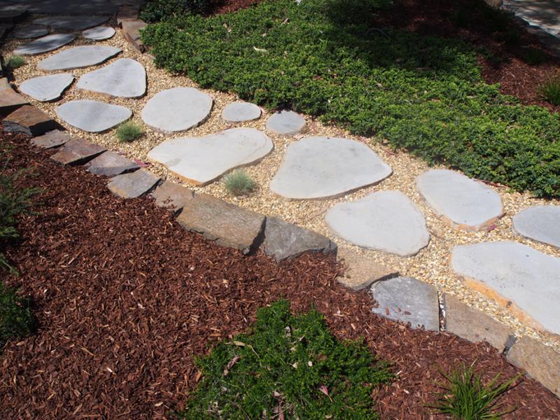 Basalt Stepping Stones For Garden Path Bluestone Pavers Bluestone Paving Round Stepping Stones
