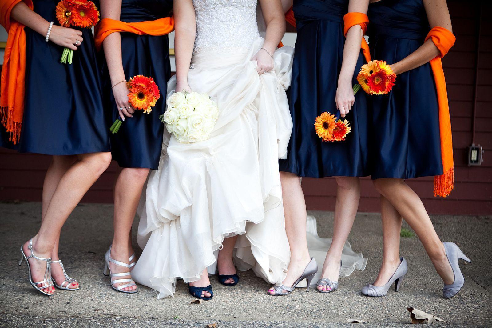 Navy and orange bridesmaid dresses loves pinterest wedding navy and orange bridesmaid dresses ombrellifo Choice Image