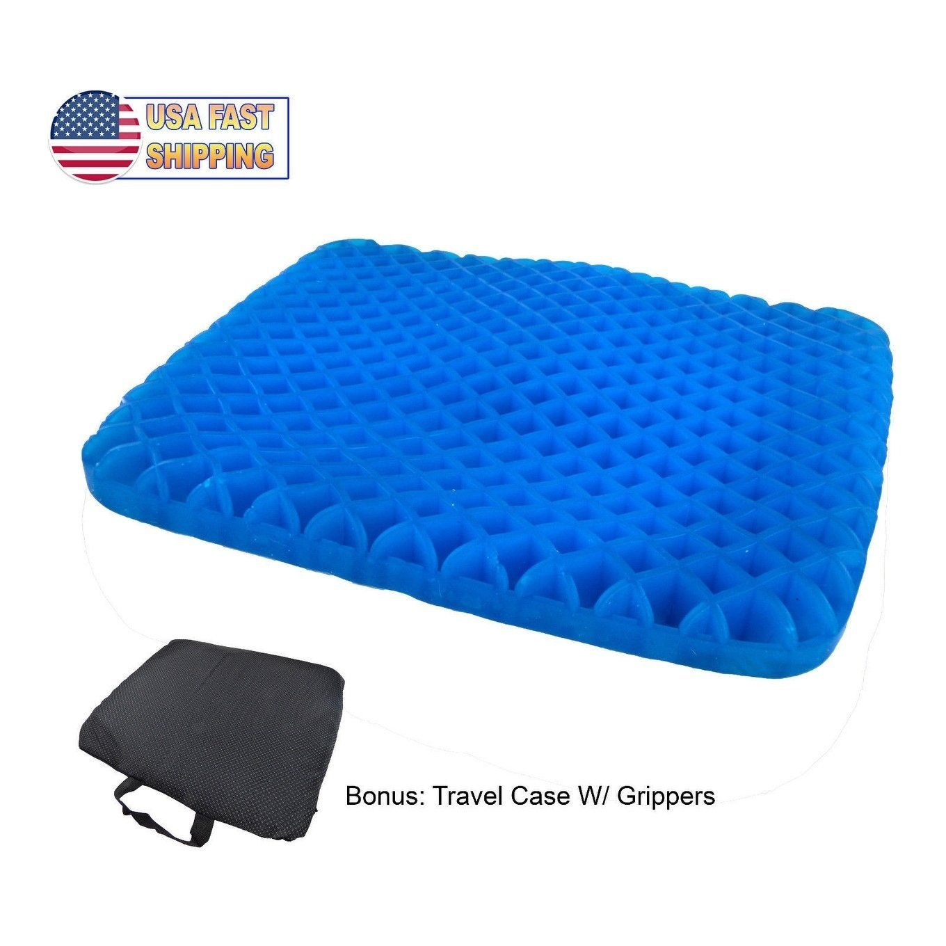 Honeycomb Cooling Gel Support Seat Office Cushion W Non Slip