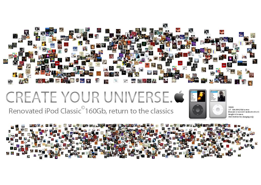 #disenobasico // CREATEYOURUNIVERSE. A partir de las posibilidades que te ofrece el producto de Apple, puedes envolverte de tu propio universo, pasando horas, incluso días, desconectado del mundo real..