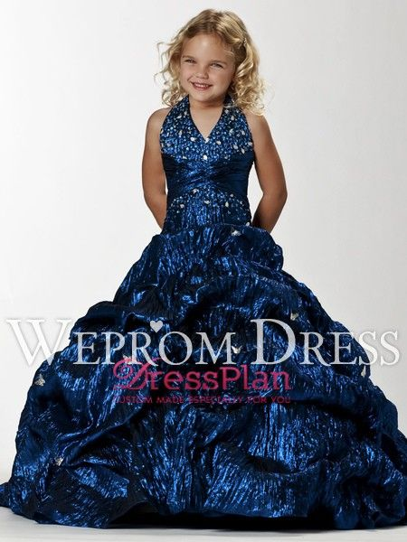 Fall-Zipper-Pick-Up-Beading-Floor-Length-Natural-Dark-Royal-Blue-Princess-Flower-Girl-Dresses-FD0093.jpg (450×600)