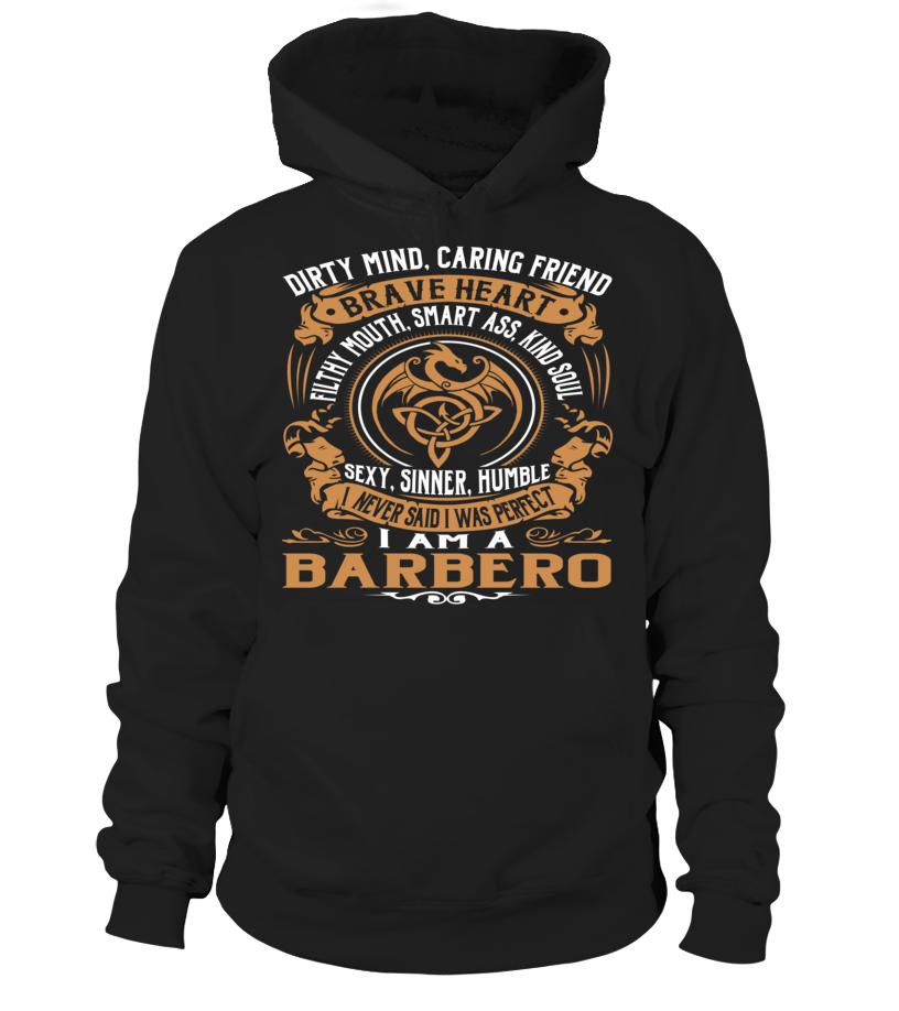 BARBERO Brave Heart Last Name T-Shirt #Barbero