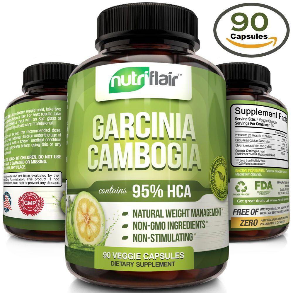 Pure 95 Hca Garcinia Cambogia Extract Weight Loss Diet Pills