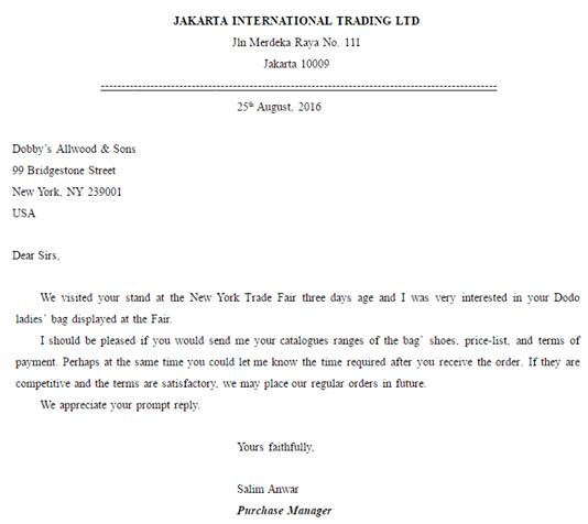 Contoh Surat Balasan Penawaran Bahasa Indonesia Surat Bahasa Inggris