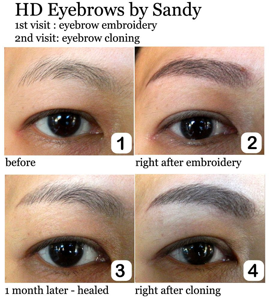 Hd Eyebrows 1st Visit Powdery Filled Tapping Technique 2nd Visit