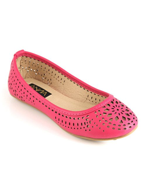 Look what I found on #zulily! Anna Shoes Fuchsia Vera Cutout Flat by Anna Shoes #zulilyfinds