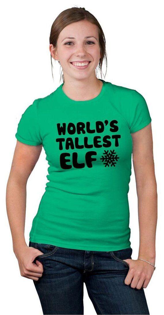 789640fa9 Christmas T Shirt Women, Tall Woman Xmas Shirt, Funny Christmas Gift Women, Elf  Shirt Green, Xmas El