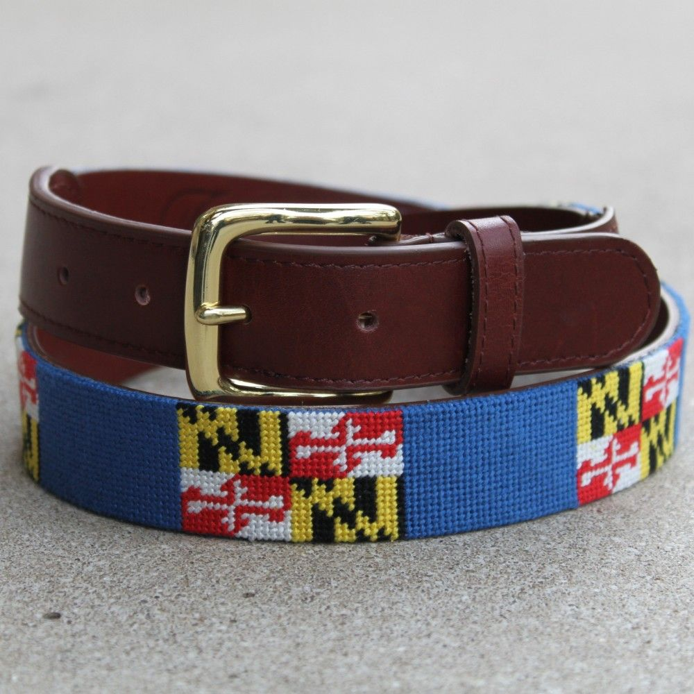 Maryland Flag Belt 95 Groomsman Gift Needlepoint Belts Belt Maryland Flag