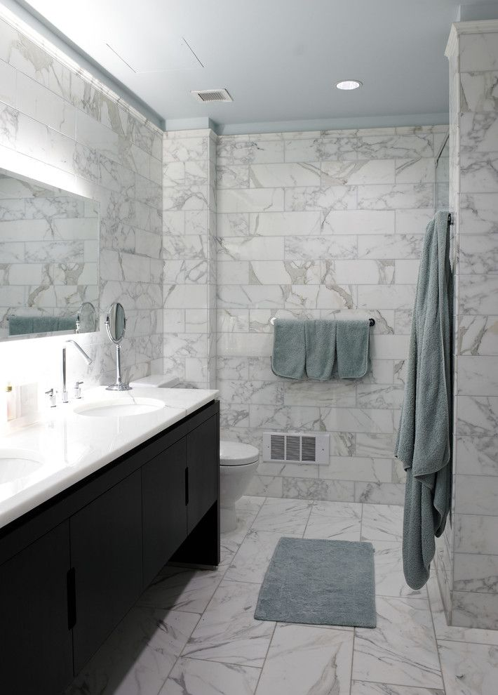 Small Bathroom Design Nyc manhattan spaces - contemporary - bathroom - new york - holzman